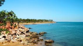 A view around the coastline